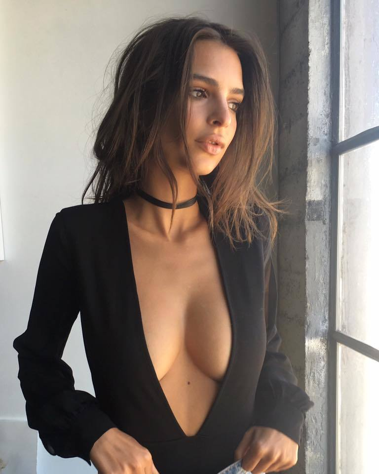 Emily Ratajkowski cleavage dress dressed up wife material