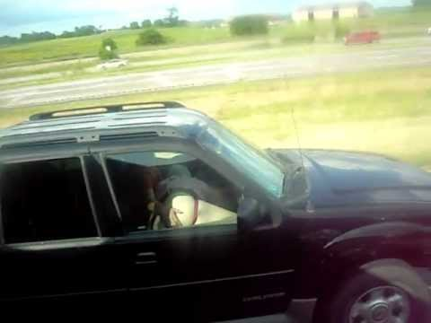 road head caught on video