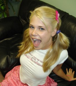 little summer porn star cute blonde teen braces facial open mouth cum target theadultblogcom