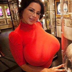 chloe vevrier adult star big ass tittes red shirt