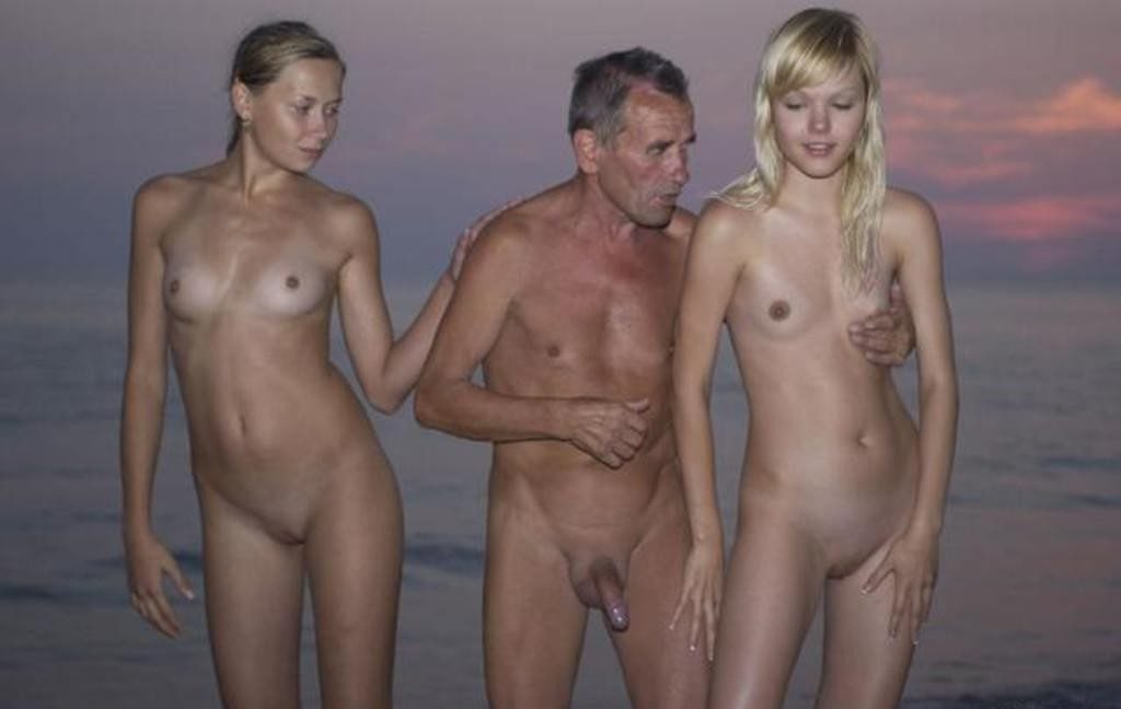 Thank Naked dad and daughter on beach share your
