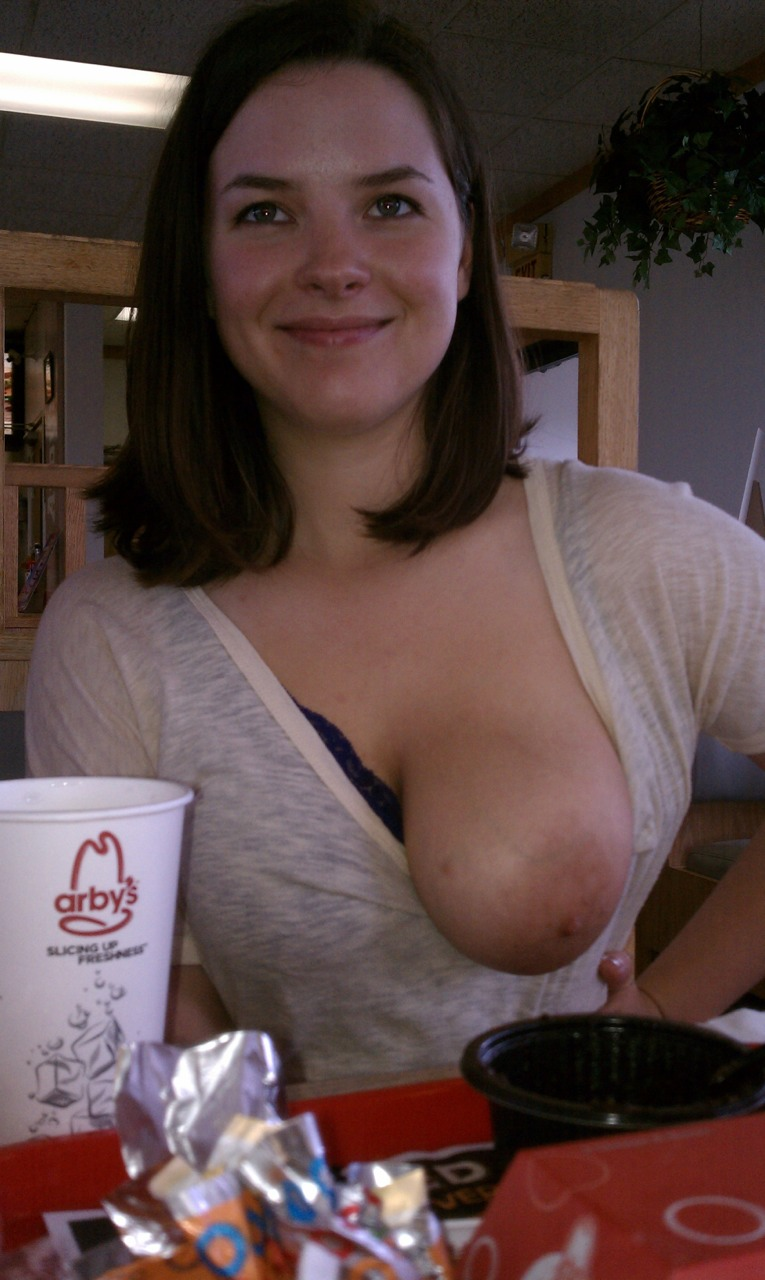 flash a tit for free fast food promotion nipple