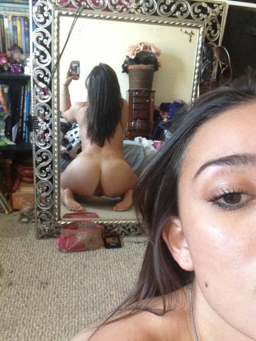 my asshole in a mirror selfie, classy